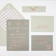 Wedding Invitation Stamp Suite - Floral Art Deco