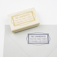 Art Deco Frame Address Stamp