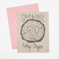 Save the Date Stamp - Wood Slice