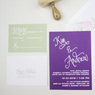 Wedding Invitation Stamp Suite - Calligraphy