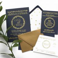 Wedding Invitation Suite - Wreath