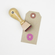 Donut Mini Rubber Stamp