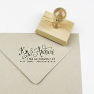 Calligraphy Names Address Stamp