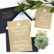 Wedding Invitation Stamp Suite - Floral Nautical