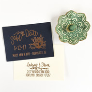 Save the Date Stamp - Floral Nautical