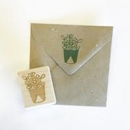 Succulent Stamp - Jade Plant