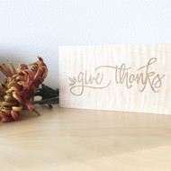 Give Thanks Table Sign