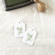 25 White Merchandise Tags - 2 Sizes