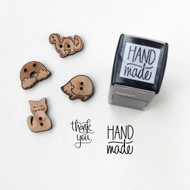 Self inking mini stamps - handmade, thank you