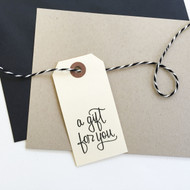 A gift for you hand lettered rubber stamp by Paper Sushi