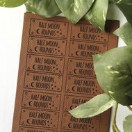 Leatherette Flat Custom Tags  (Sets of 20)