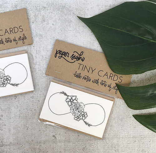 Floral infinity tiny cards by Paper Sushi