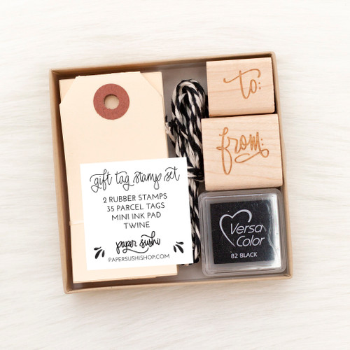 Gift Tag Stamp Set by Paper Sushi #giftwrap #christmas #gifttag
