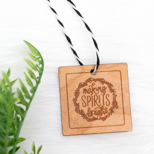 Real wood veneer gift tags with paper backing by Paper Sushi #giftwrap #christmas #woodtags