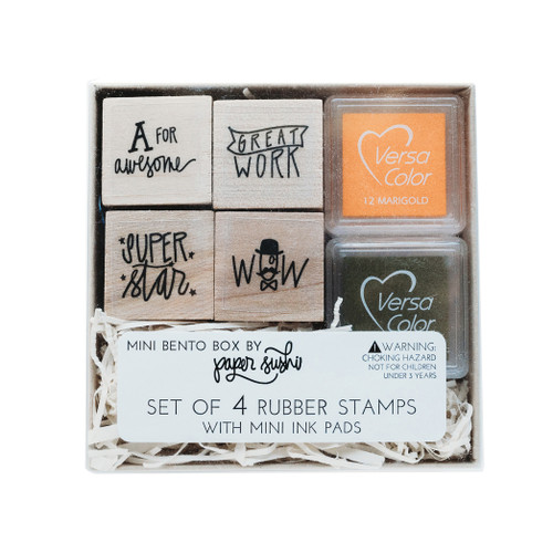 Mini teacher gift stamp set by Paper Sushi