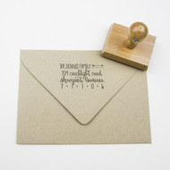 Arrow Address Stamp