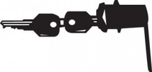 Lock W/Key Set (2 Keys) For Hk Cart