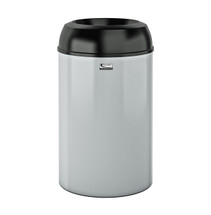 Suncast Metal Indoor Trash Can - 30 Gallon Black PC Lid / Silver PC Base