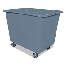 Royal 6 Bushel Poly Truck w/Galvanized Steel Base, 24 x 34 x 26, 800 lbs. Cap., Gray