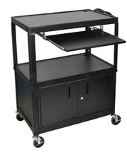 Luxor Extra Wide Presentation Cart BLACK AVJ42XLKBC
