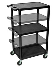 Luxor Presentation Cart BLACK LPDUO-B