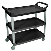 Large Serving Cart 3 shelves BLACK SC13-B
