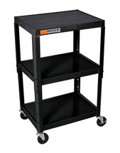 H Wilson Presentation Cart BLACK W42A