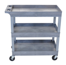 Luxor Three Shelf Utility Cart EC111-G