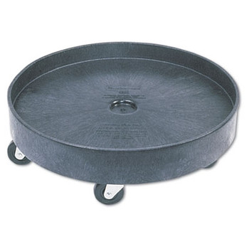 Rubbermaid Commercial Brute Container Universal Drum Dolly, 500 lbs, Black
