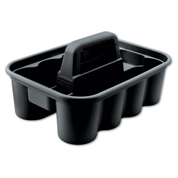 Rubbermaid Commercial Deluxe Carry Caddy, Black RCP 3154-88 BLA