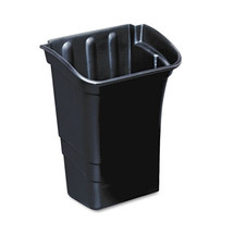 Rubbermaid Commercial Optional Utility Cart Refuse/Utility Bin, Rectangular, 8 gal, Black
