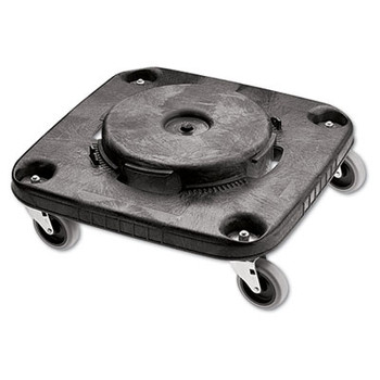Rubbermaid Commercial Brute Container Square Dolly, 300 lbs, Black