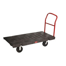 Rubbermaid Commercial Platform Truck, 500-lb Cap., 24w x 36d x 7h, Black