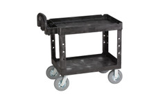 Rubbermaid 4520-10 BLA Commercial Heavy-Duty Utility Cart, 500-lb Cap., 2 Shelves, 25 7/8 x 45-1/4 x 37-1/8, Black