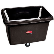 Rubbermaid Commercial Spring Platform Truck, Rectangular, 600 lb. Cap., Black