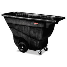 Rubbermaid Commercial Structural Foam Tilt Truck, Rectangular, 850 lb. Cap., Black