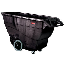 Rubbermaid Commercial Structural Foam Tilt Truck, Rectangular, 2100 lb. Cap., Black
