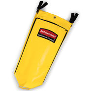 Rubbermaid Commercial Vinyl Cleaning Cart Bag, 26 gal, Yellow