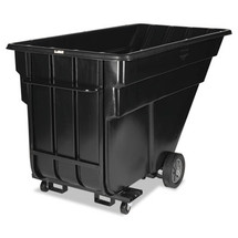 Rubbermaid Commercial Forkliftable Rotomolded Tilt Truck, 1200-lb Cap., Black, 1-1/2 Cu. Yd.