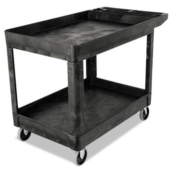 Rubbermaid® Commercial Heavy-Duty Utility Cart, 2 shelf 25-7/8 X 45-1/4 X 33-1/4