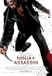 NINJA ASSASSIN  double sided US ONE SHEET (2009) ORIGINAL CINEMA POSTER