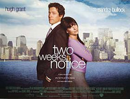 TWO WEEKS NOTICE ORIGINAL CINEMA POSTER
