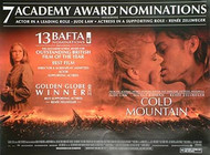 COLD MOUNTAIN (Quotations) ORIGINAL CINEMA POSTER