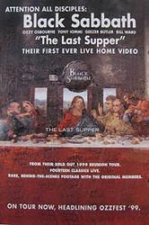 BLACK SABBATH: THE LAST SUPPER (Live Home Video) ORIGINAL VIDEO/DVD AD POSTER