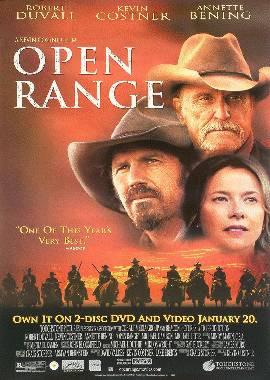 OPEN RANGE (Video) ORIGINAL VIDEO/DVD AD POSTER
