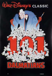 101 DALMATIONS (Single Sided Reprint) REPRINT POSTER