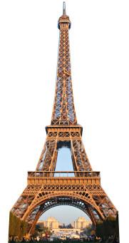 Eiffel Tower - Lifesize Cardboard Cutout / Standee