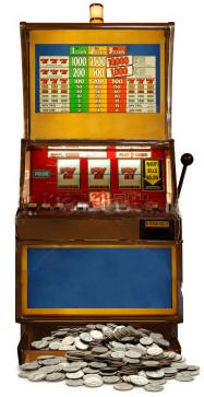 Fruit Machine (One Armed Bandit) - Lifesize Cardboard Cutout / Standee