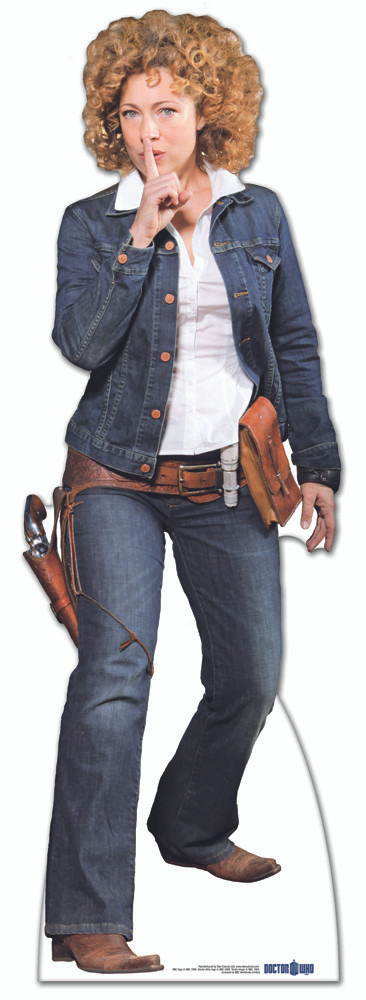 Lifesize Cardboard Cutout Of River Song Cowgirl Outfit Buy -5809