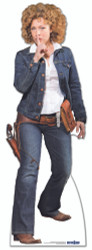 River Song Cowgirl Cardboard Cutout